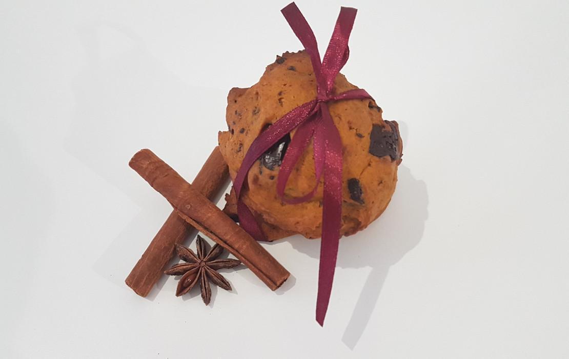 Ciasteczka dyniowo - czekoladowe.