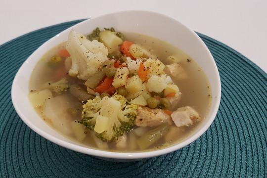 Zupa gotowa do spożycia.
