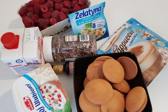 Produkty na ciasto bez pieczenia.