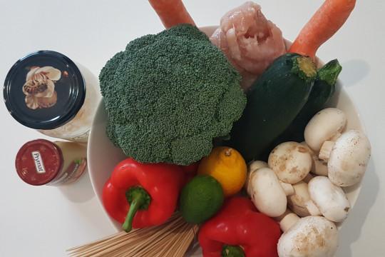 Potrzebne świeże warzywa.